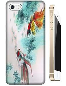 Apple Accessories Sea World Goldfish Fish Dolphin Beautiful Design For iPhone 5/5S No.3