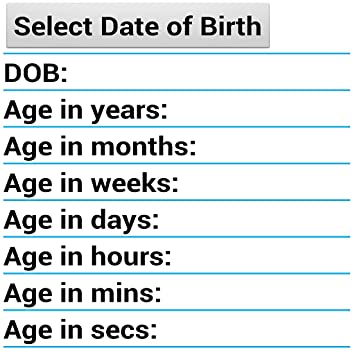 1 chronological age calculator free on the app store.