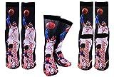 Forever Fanatics New York Carmelo Anthony #7 Basketball Crew Socks Sizes 6-13 ✓ Ultimate Basketball Fan Gift (Size 6-13, Anthony #7)