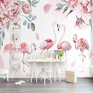 L22LW Wallpaper Flamant Rose Rose Salon Scandinave Moderne, Murs Papier  Peint Papier Peint De Grandes
