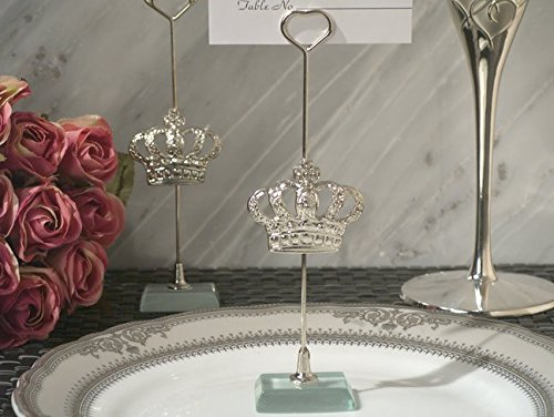 Silver Royal Crown place card holder (Crown Place)