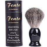 Fento Pure Badger Hair Shaving Brush-For Double Edge Razor, Safety Razor,Black Handle