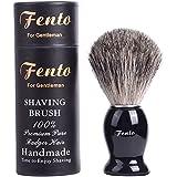 Fento Badgerhair Brush 100% Pure Badger Gift Box-Engineered for the Best Life. for, Safety Double Edge Straight Shaving Razor
