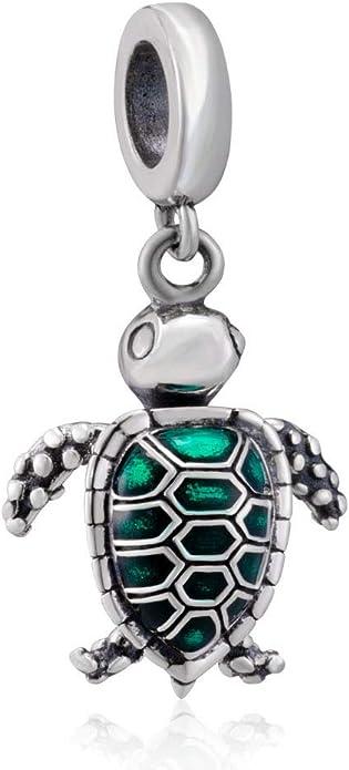 Marine Life European Charm Bracelets w Ocean Animal Charms Turquise Glass Beads