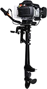 LEADALLWAY T4.0HP Four Stroke Outboard Motor&Aluminum&Folding Boat Motor Stand Carrier Cart with Wheels