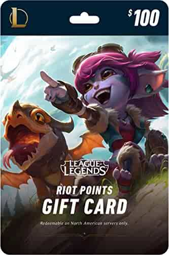 League of Legends $100 Gift Card - NA Server Only [Online Game Code]