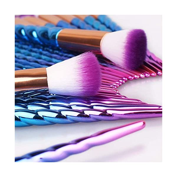 Unicorn Makeup Brushes Set Make up Brushes Professional Foundation Powder Eyeshadow Blending Concealer Cosmetics Tools Brushes Kit with Case 9