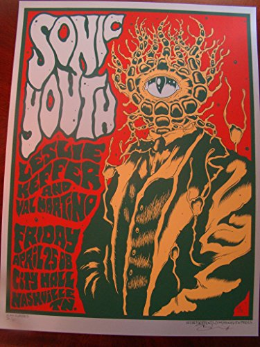 Sonic Youth Music Poster Sonic Youth Nashville 08 Forbes Silver