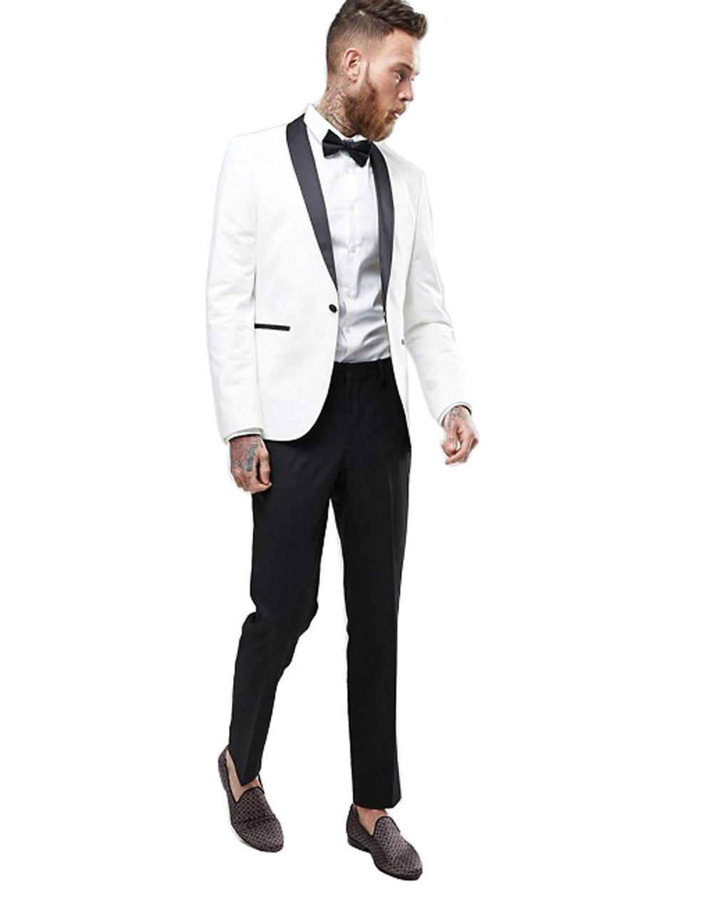 kelaixiang Men's 2 PC Business Classic Tuxedo Suit Double Breasted Suit Sets