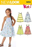 Simplicity Creative Patterns New Look 6204 Child's Dress, A (3-4-5-6-7-8)