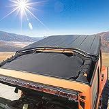 #10: Mesh Bikini Top Sunshade for Jeep Wrangler Unlimited JK JKU 2007~2017 UV Protection Heat Shield Windshield Net Cover Visor