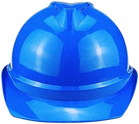 Casco PE azul, Casco de construcción con trinquete antideslizante ...