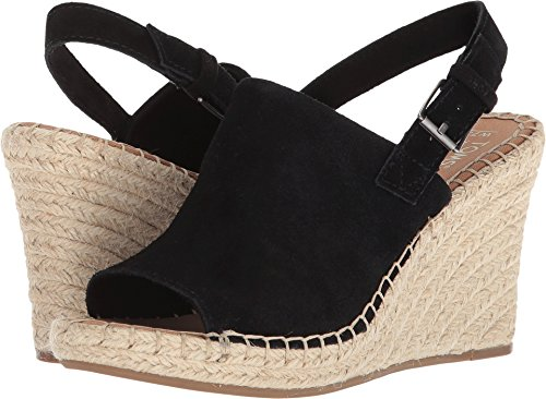 TOMS Women's Monica Suede Wedge, Size: 8 B(M) US, Color: Black Suede by TOMS