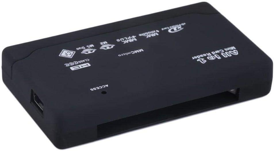 Hot Black External USB 2.0 Multi Card Reader for XD MMC MS CF TF Mini M2 QT