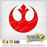 Rebellen-Allianz / Jedi 10 x 10 cm IN 15 FARBEN - Neon + Chrom! Sticker Aufkleber