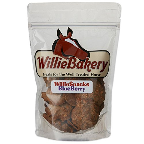 WillieMuffins Blueberry Snacks 1 pound Horse Treats (1 Pouch) (Steamed Oats Rolled)