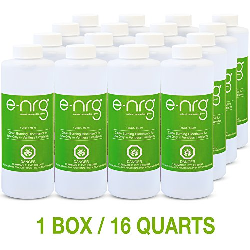 - e-NRG Bioethanol Fuel for Ventless Fireplaces (16 Quarts)