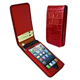 Piel Frama 595 Red Crocodile Magnetic Leather Case for Apple iPhone 5 / 5S / SE