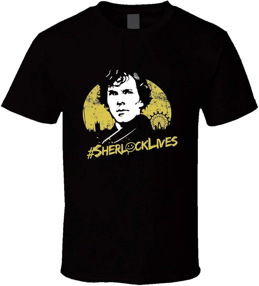 Sherlock Holmes t-Shirt BBC Series Benedict Cumberbatch Sherlock Lives t-Shirts