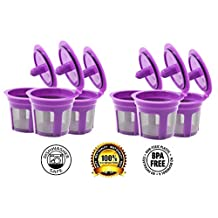 Fill N Save 6 Pack Reusable K-Cups for Keurig 2.0 & Backward Compatible With Original Keurig 1.0 Models. Works with Keurig Machines and Other Single Cup Brewers.