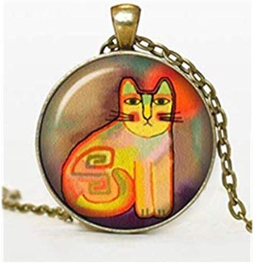 sea-maiden Funky - Collar para Gato, joyería para Gatos, Regalo para Gatitos, Colgante de Animal, joyería de Cristal Hecha a Mano.: Amazon.es: Joyería