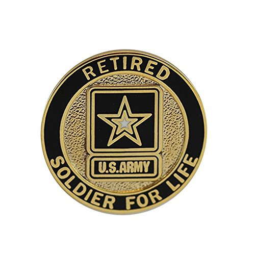 (Soldier For Life Army Retired Lapel Pin)