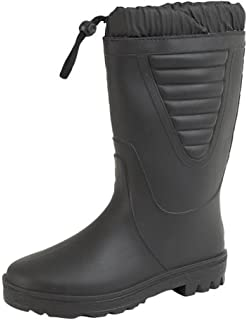 0a79fc0d68d STORMWELLS Womens Faux Fur Lined Wellington Wellies Snow Winter Boots Black  4-9