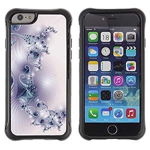 All-Round híbrido Heavy Duty de goma duro caso cubierta protectora Accesorio Generación-II BY RAYDREAMMM - Apple iPhone 6 PLUS 5.5 - Pattern Wallpaper Art White Purple Light