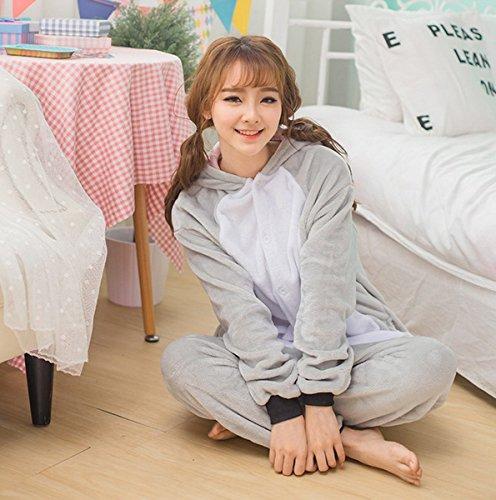 Pijama disfraz para adultos con diseño de animales gris