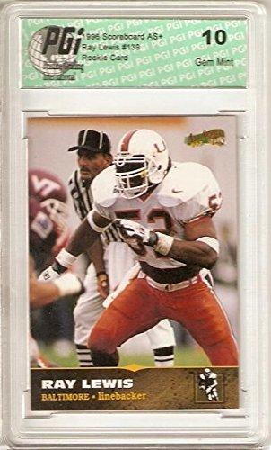 Ray Lewis Card - Ray Lewis 1996 Scoreboard All Sport Rookie Card PGI 10 Baltimore Ravens