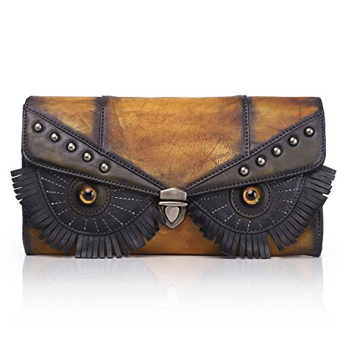 Unique Owl Bag Ladies Designer Small Shoulder Black Leather Gift Clutch Women Brown Design APHISONUK Bag Exquisite Holiday wRqYU8Czxx