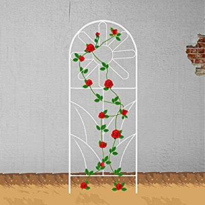 ecotrellis jardín girasol enrejado planta valla rejilla paneles ...