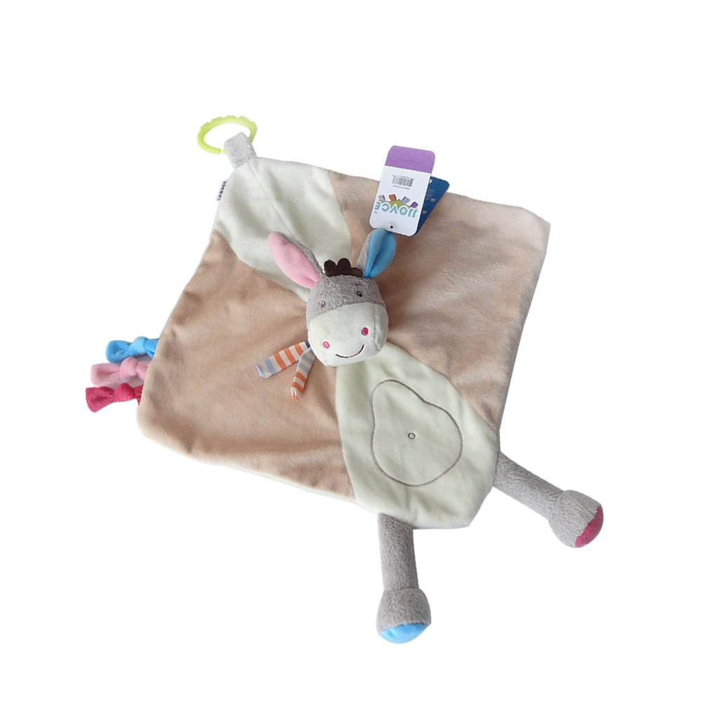 INCHANT Soother Security Blanket Baby Comforter Toy | Cute Soft Donkey Plush Toys with Infant/Baby Soft Appease Towel E-Thriving
