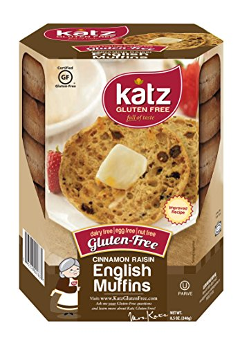 Katz Gluten Free Cinnamon Raisin English Muffins 8.5 Ounce (Pack of 6)