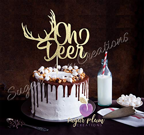 Oh Deer Baby Shower Cake topper