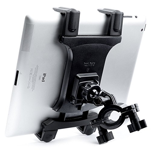 Tablet Holder for Spin Bike - [Dual Lock] TACKFORM Universal Cradle for Stationary Bike, Treadmill, Elliptical, Spinning, Exercise Indoor Mount for iPad, Mini, 2, 3, Air, Pro