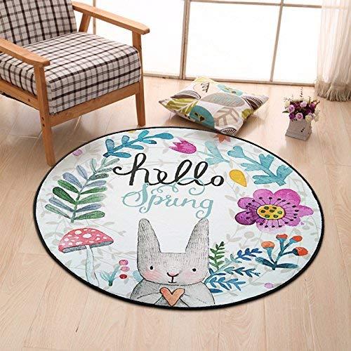 Toilet Cushion Home Hand-Painted Rabbit Entrance Door Porch Bedroom Door mat Floor mat Bathroom Kitchen Window mat (Size : 80 80CM) (Size : 8080CM)