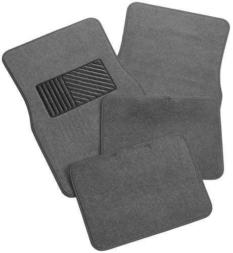 Rubber Queen 70544 Carpeted 4 Piece Mat With Vinyl Heel Pad – Gray