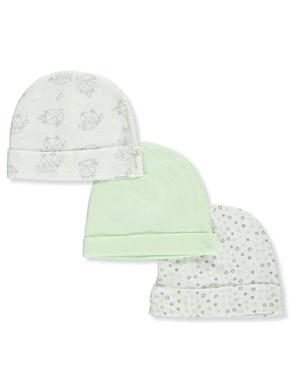 Mary Jane /& Buster Baby Boys 3-Pack Caps