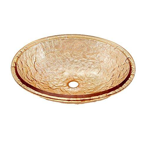 JSG Oceana 007-007-100 Undermount Bathroom Sink, Champagne Gold