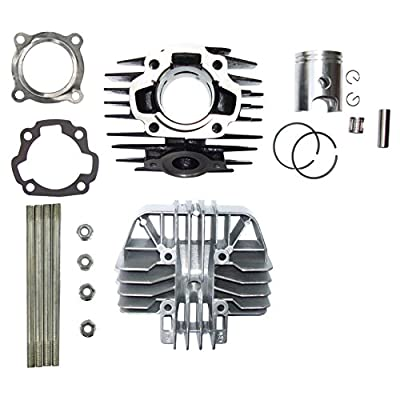 Zoom Zoom Parts Top End Kit For YAMAHA PW 80 PW80 Carburetor Cylinder Gasket Piston Rings Kit Set 1983 84 85 86 87 88 89 90 91 92 93 94 95 96 97 98 99 00 01 02 03 04 05 2006: Automotive