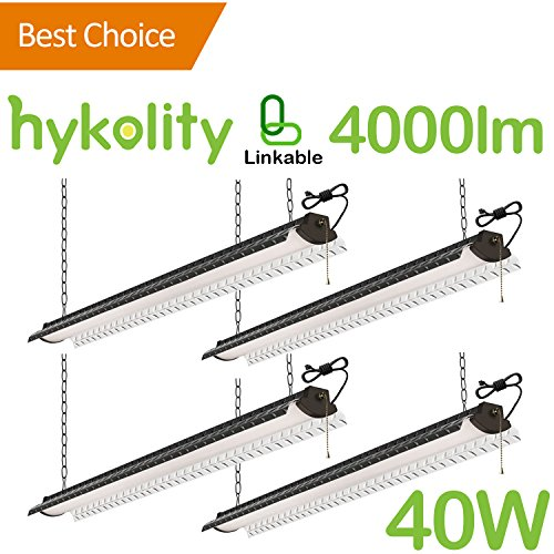 Diamond Plate Fluorescent Shop Light: Hykolity 4FT 40W Linkable LED Shop Light With Pull Chain