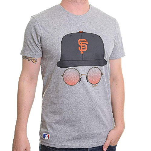 New Era T-Shirt - Mlb San Francisco Giants Cap & Glasses grau Größe: S (Small)