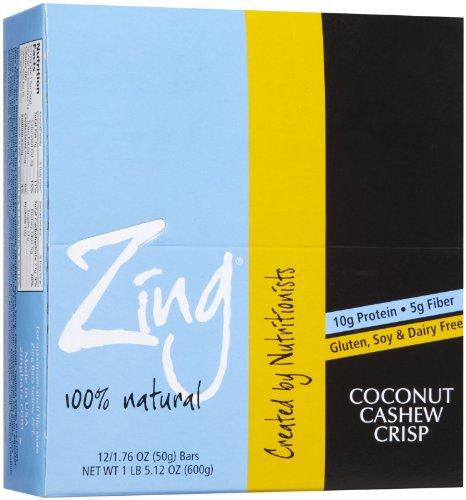 Zing Bars Bars – Coconut Cashew – 1.76 oz – 12 ct