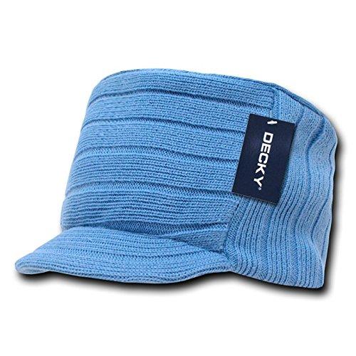 DECKY Knitted Flat Top Cap w/ Visor, - Sky Mall Com