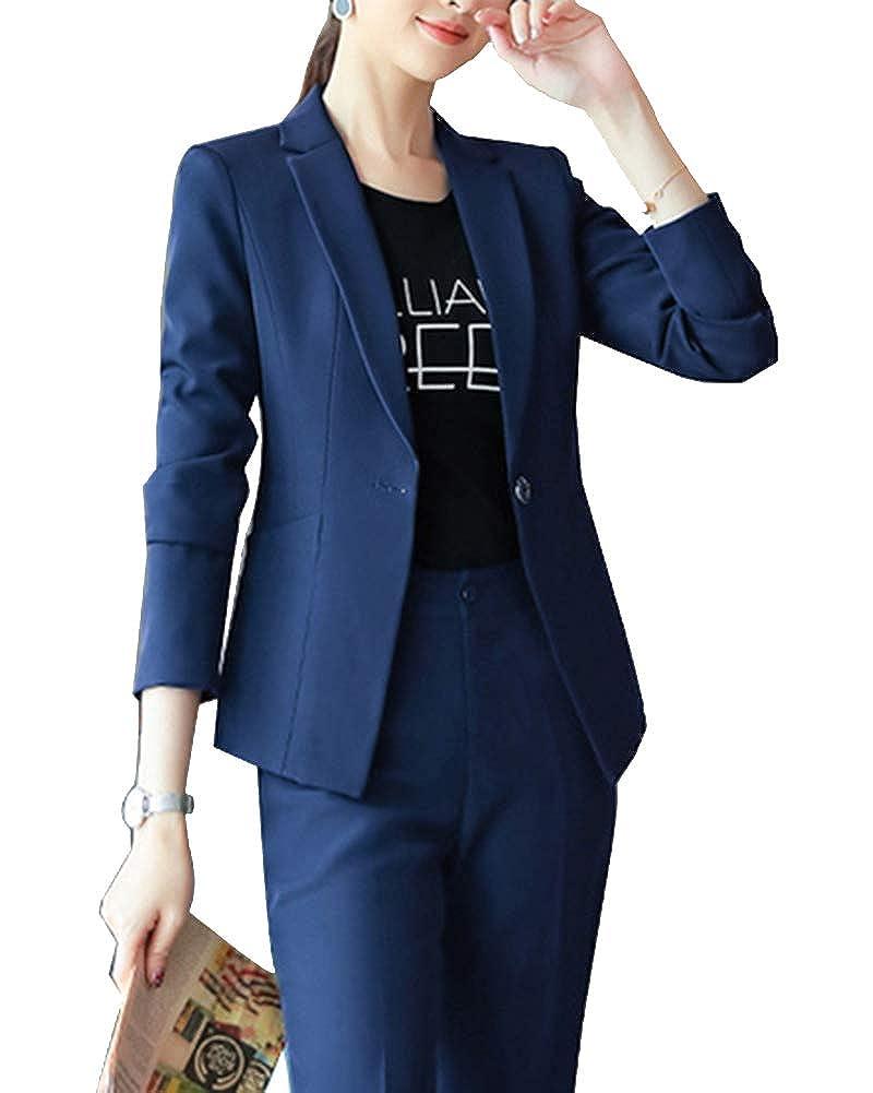 Smoking Mujer Elegante Blazer Oficina Negocios Traje De ...