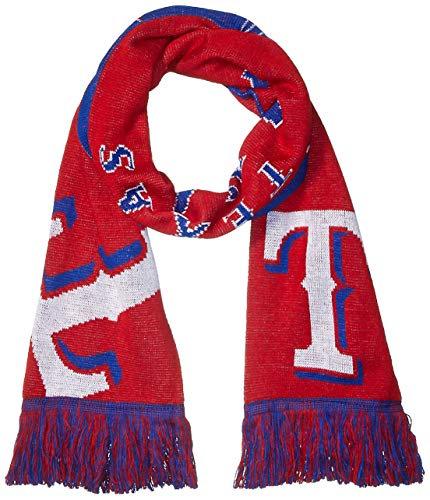 MLB Texas Rangers Reversible Split Logo Scarf, One Size, Team Color