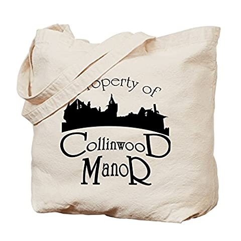 CafePress - Property Of Collinwood Manor - Natural Canvas Tote Bag, Cloth Shopping Bag (Dark Shadows Quentin)