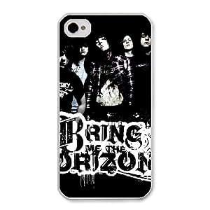 Bring Me the Horizon T1K2GD1C Caso funda iPhone 4 4s Caso funda del teléfono celular blanco