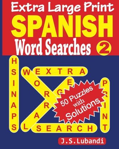 Extra Large SPANISH Searches Spanish product image